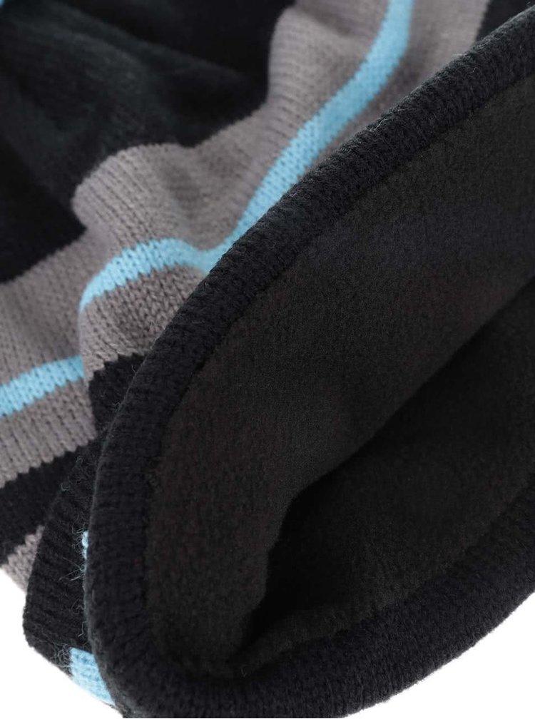 Căciulă neagră cu albastru Quiksilver Summit cu ciucure