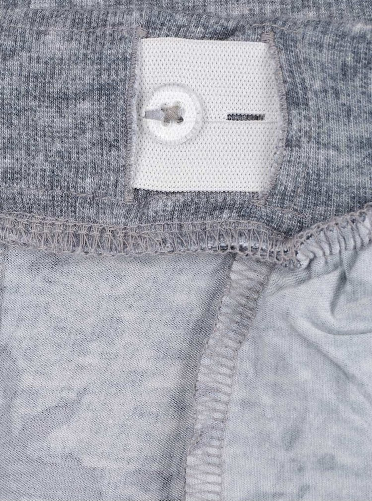 Pantaloni sport gri melanj name it Vunetta cu imprimeu pentru fete