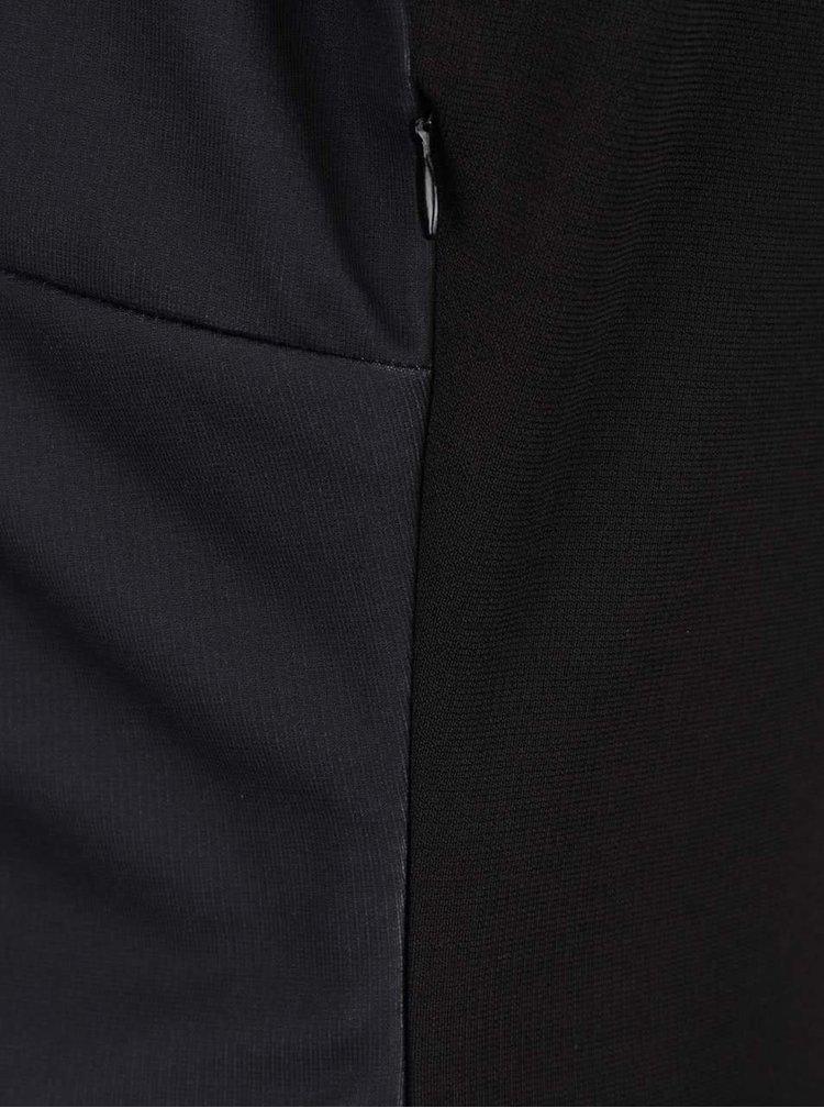 Černé šaty s potiskem, kamínky a výstřihem na zádech Desigual Isla