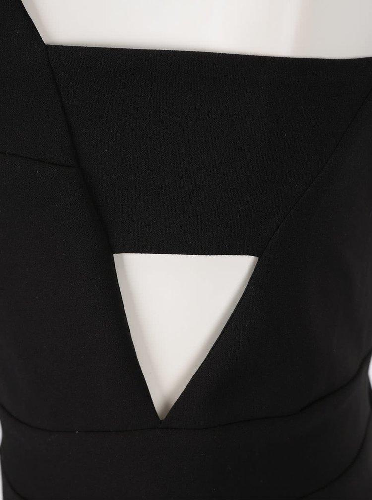 Černý krátký overal s průstřihy na bocích Miss Selfridge