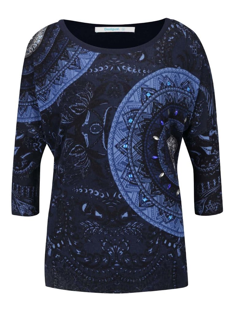 Bluză bleumarin Desigual Varlkiria Full