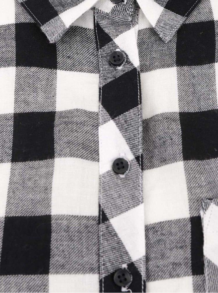 Cămașă lungă alb & negru TALLY WEiJL din bumbac cu model în carouri