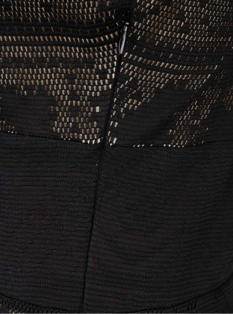 Rochie neagră Desigual Elga din dantelă