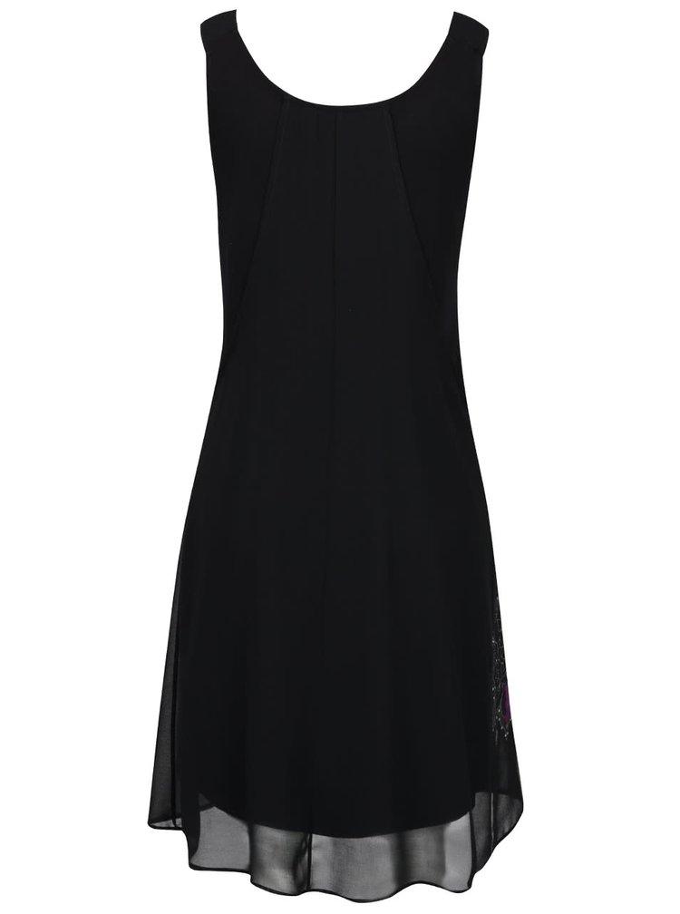 Černé šaty s potiskem Desigual Nuri