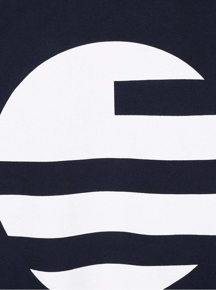 Tmavě modrá pánská mikina s potiskem Perry Ellis Big Logo