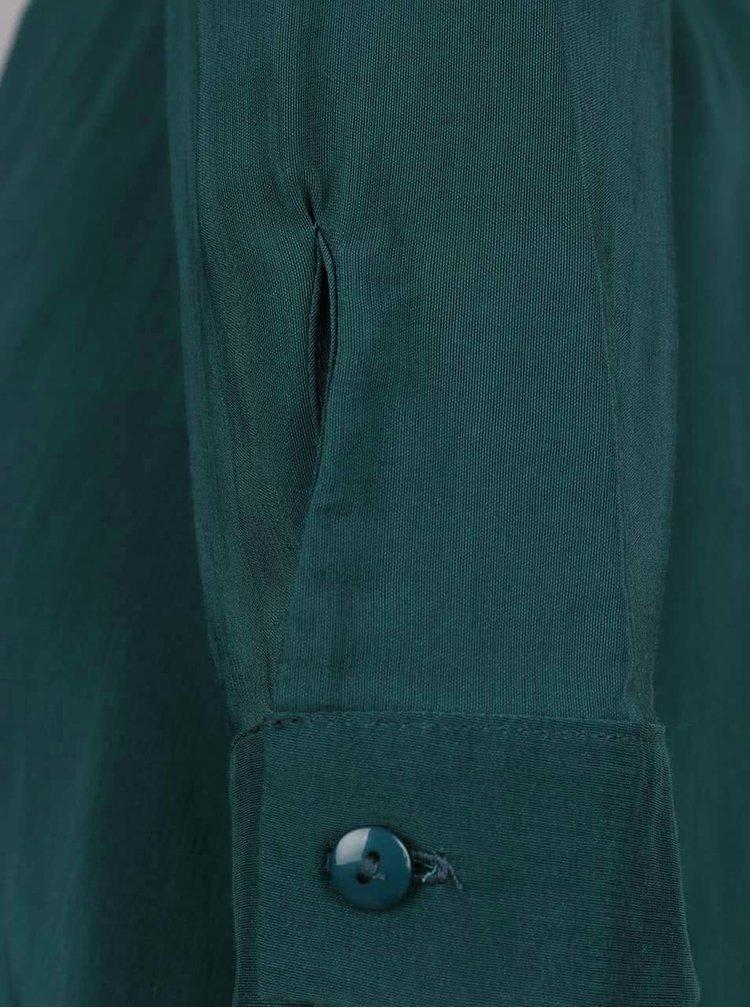 Petrolejové košilové šaty s průstřihy na ramenou Miss Selfridge