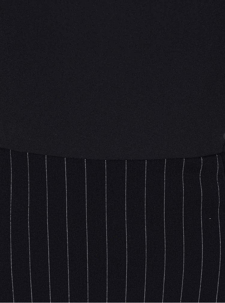 Rochie neagră Desigual Sara cu mâneci scurte