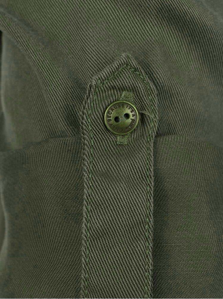 Khaki košilové šaty se stahováním v pase ONLY Viola