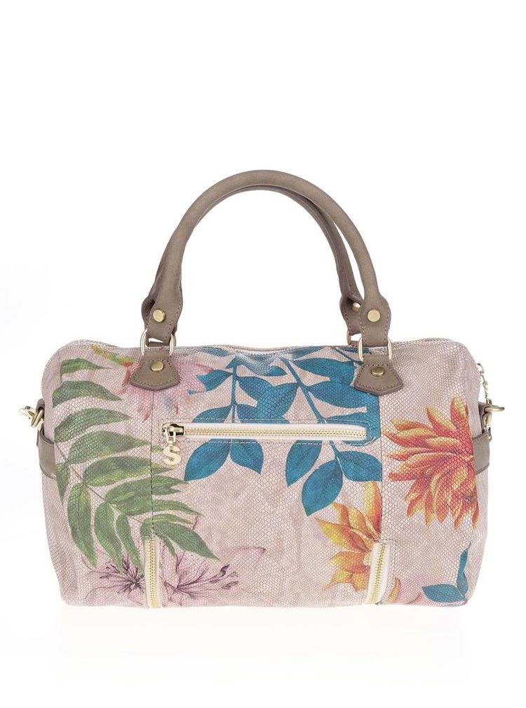 Béžová kabelka s květovaným potiskem Desigual Sidney Mogly