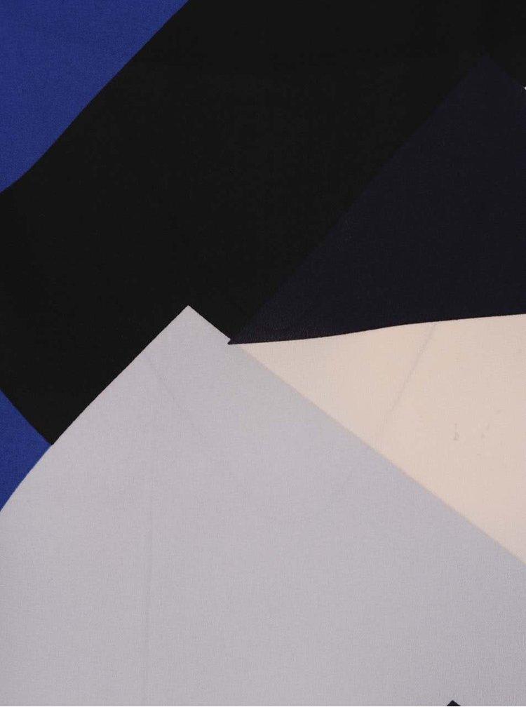 Bluza negru cu albastru Dorothy Perkins Petite  cu maneci 3/4