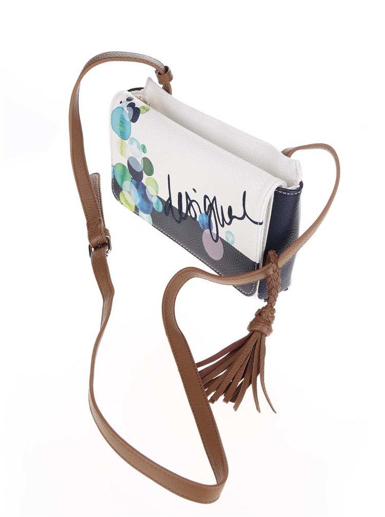 Modro-krémová crossbody kabelka s potiskem Desigual Dallas Ivyblue
