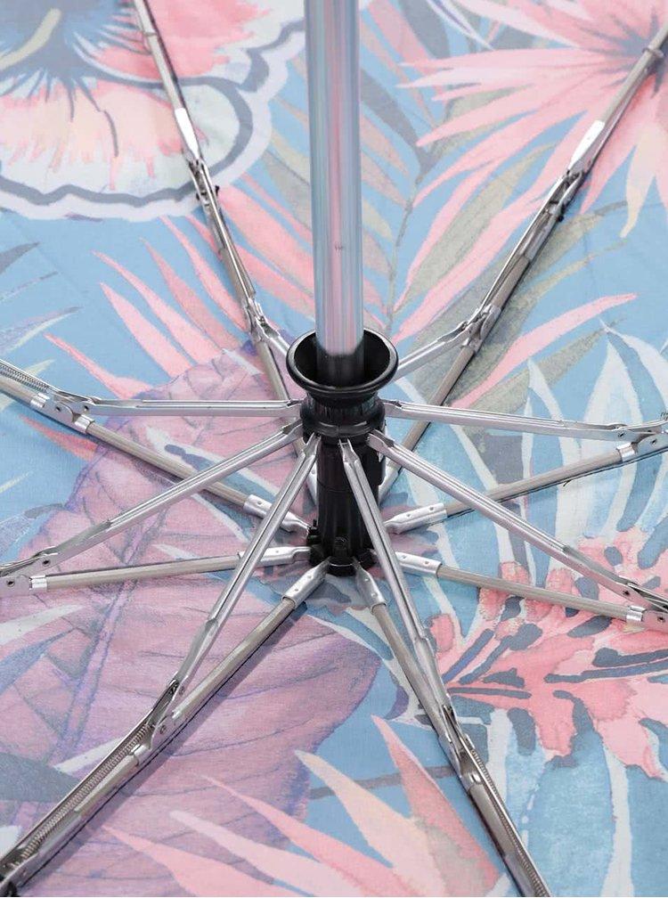 Zelený deštník se potiskem květin Desigual Namibia