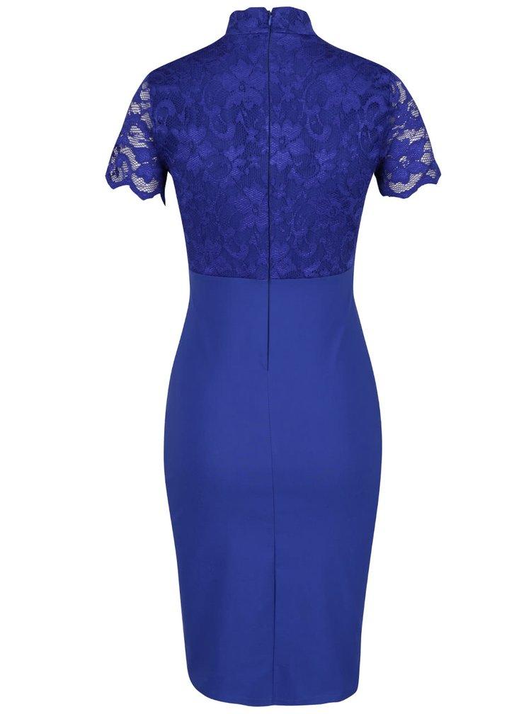 Modré šaty s krajkovým topem Scarlett B