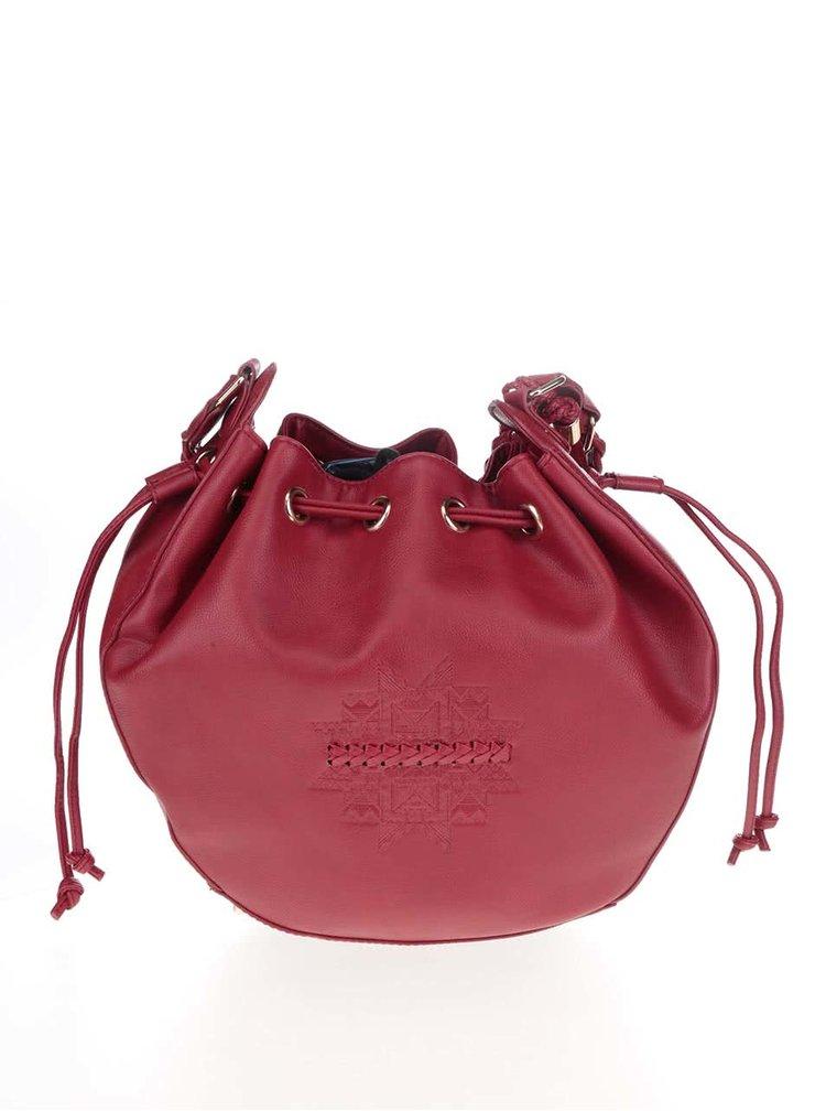 Geantă bucket roșie Desigual Assisi Patricia