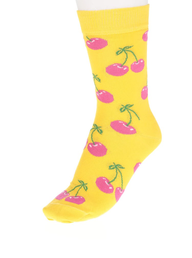 Șosete galbene Happy Socks Cherry