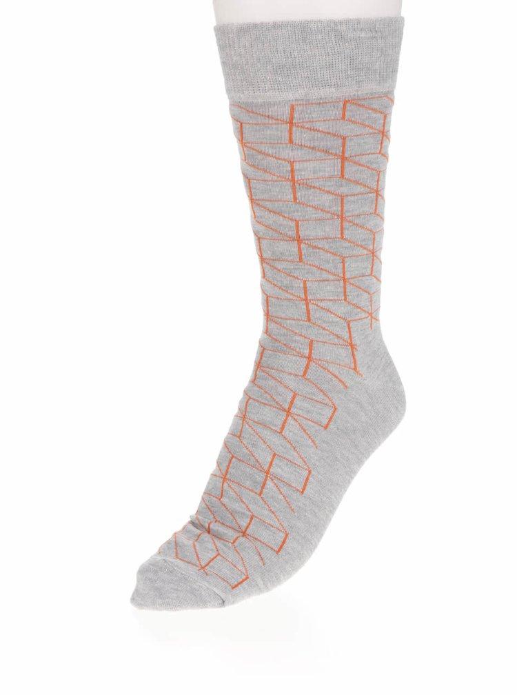 Sosete gri Happy Socks Optic