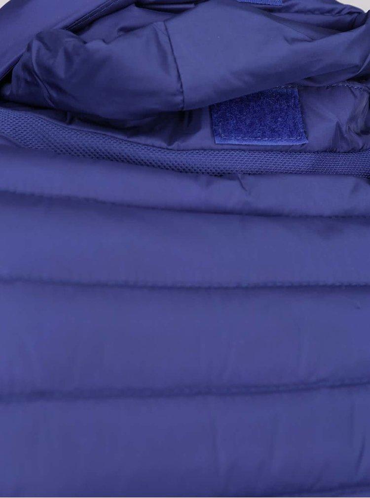 Modrá dámská péřová prošívaná bunda Geox