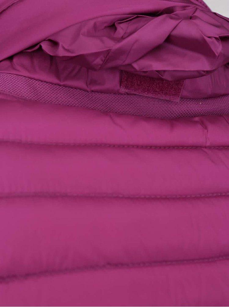 Fialová dámská péřová prošívaná bunda Geox
