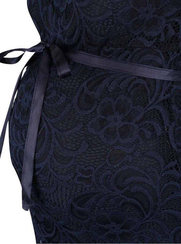 Tmavě modré krajkové těhotenské šaty Mama.licious New Mivana