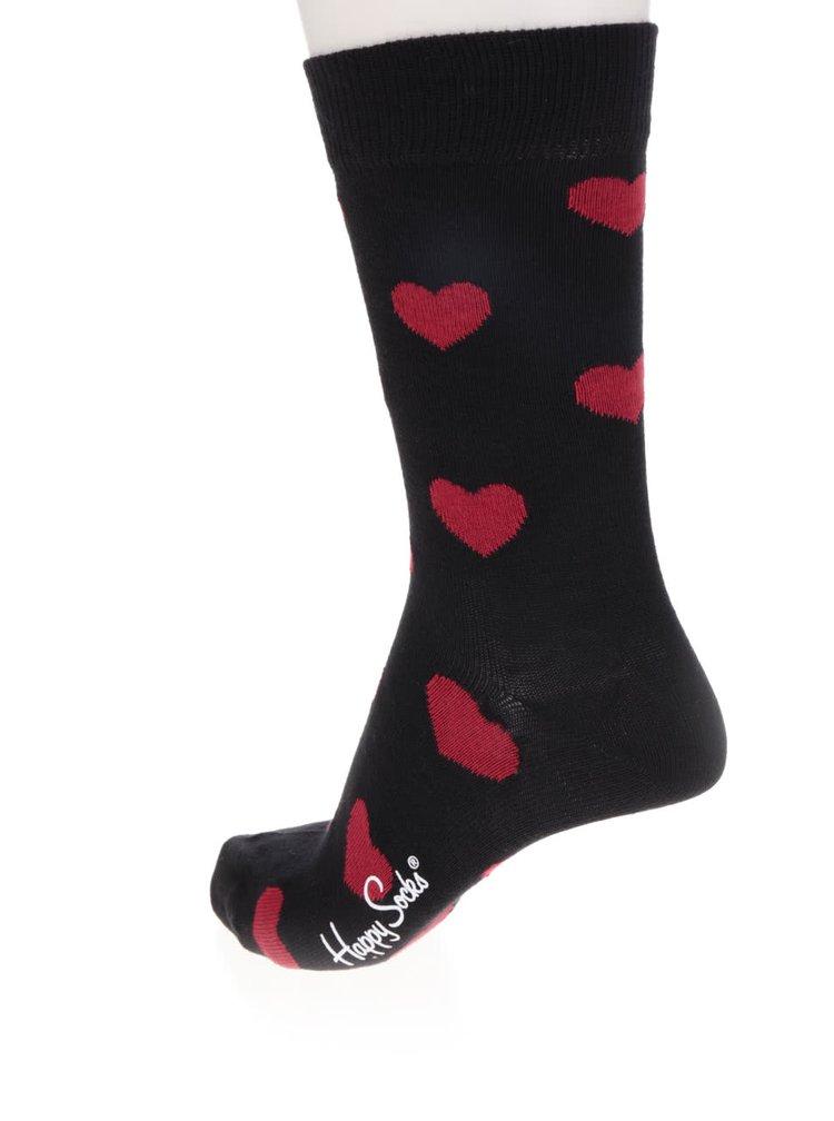 Sada tří párů dámských ponožek v černé barvě Happy Socks Valentine's Gift Box
