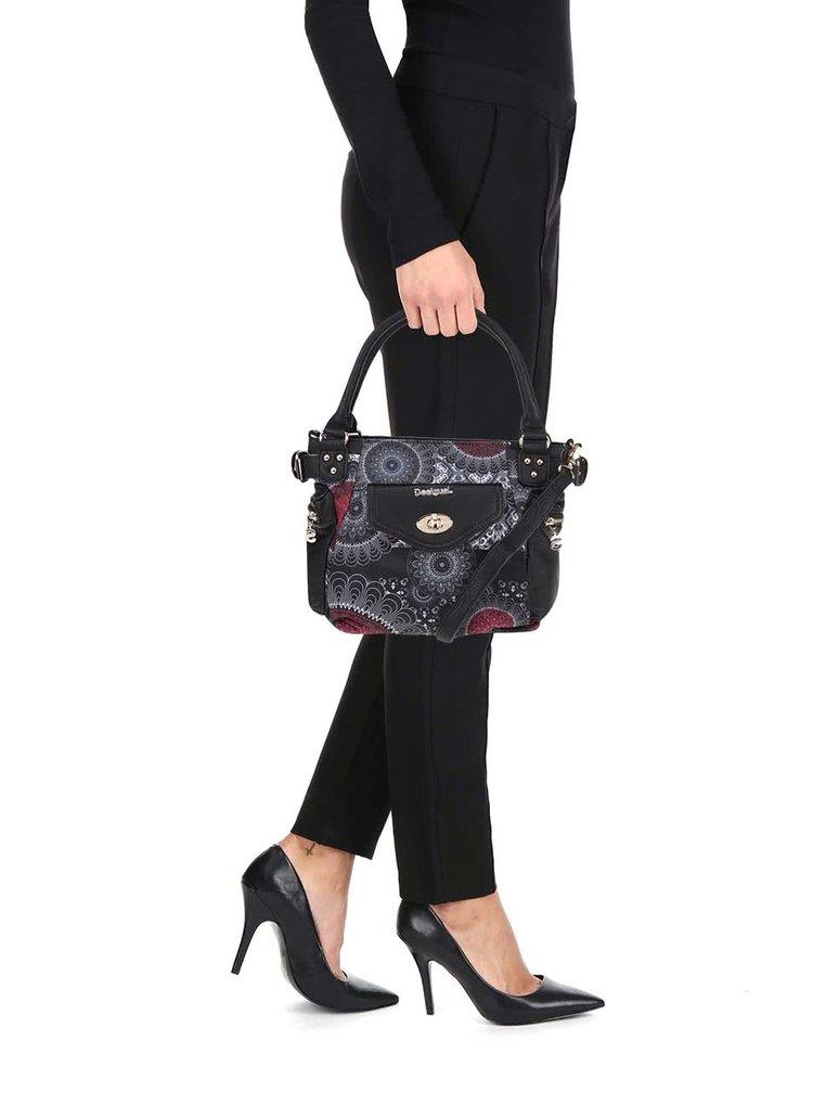 Geantă negru & roșu Desigual McBee Barbados cu model