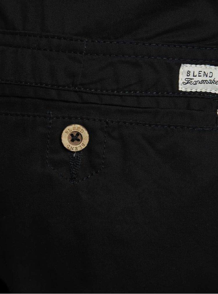 Pantaloni chino negri Blend din bumbac