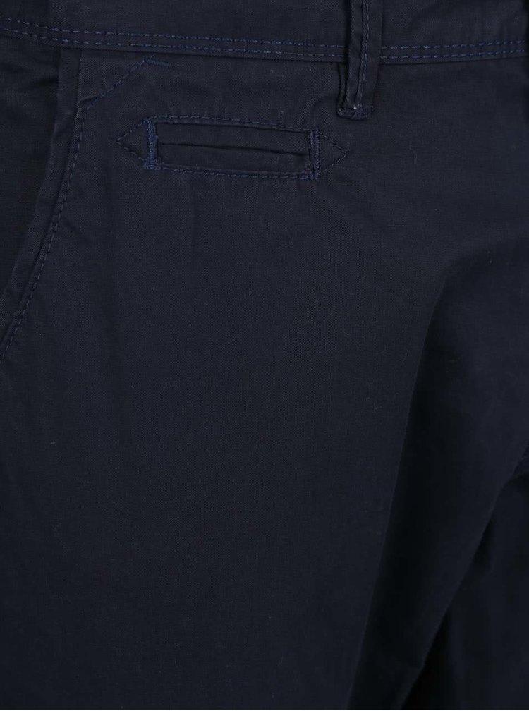 Pantaloni chino albastru închis Blend din bumbac