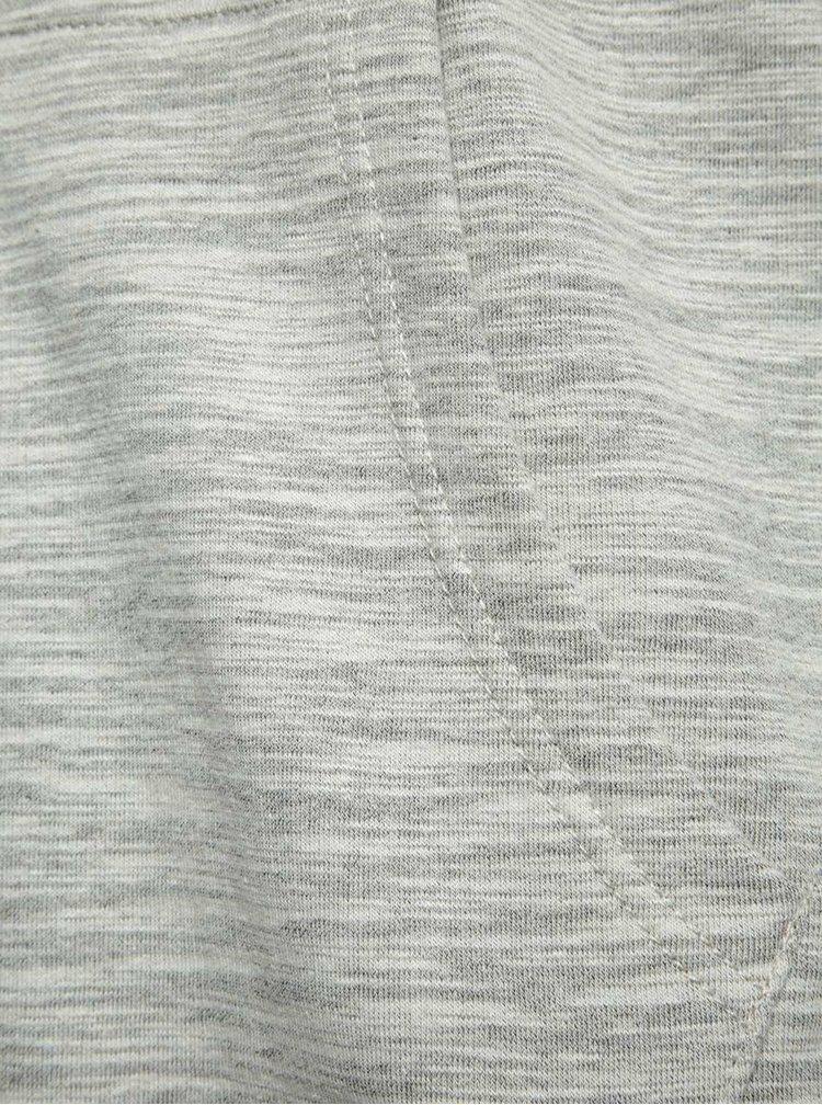 Šedá žíhaná mikina na zip s kapucí Blend