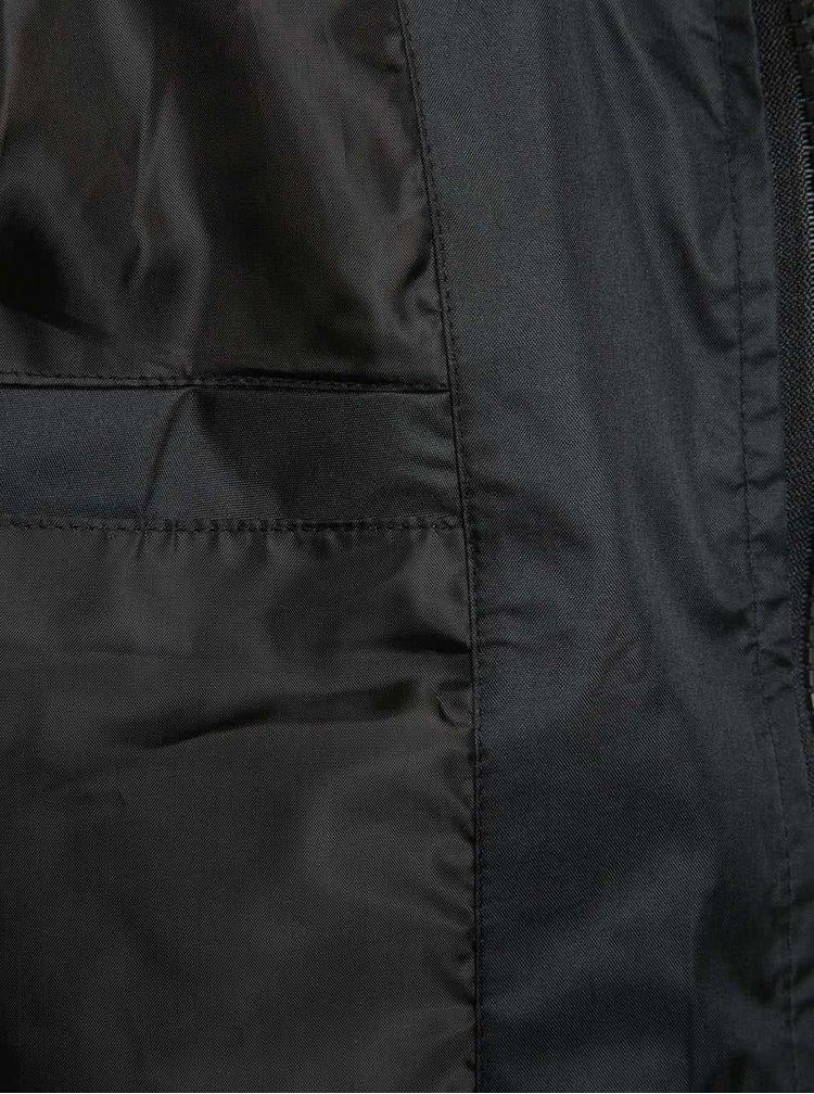 Černá lehká bunda s kapucí Blend