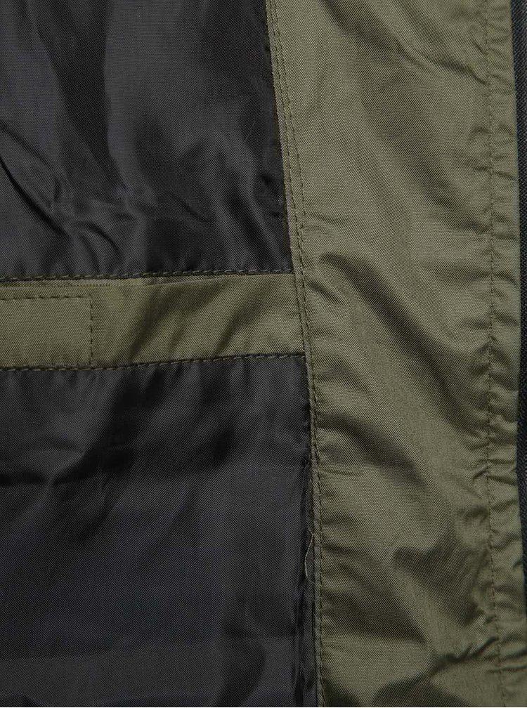 Khaki lehká bunda s kapucí Blend