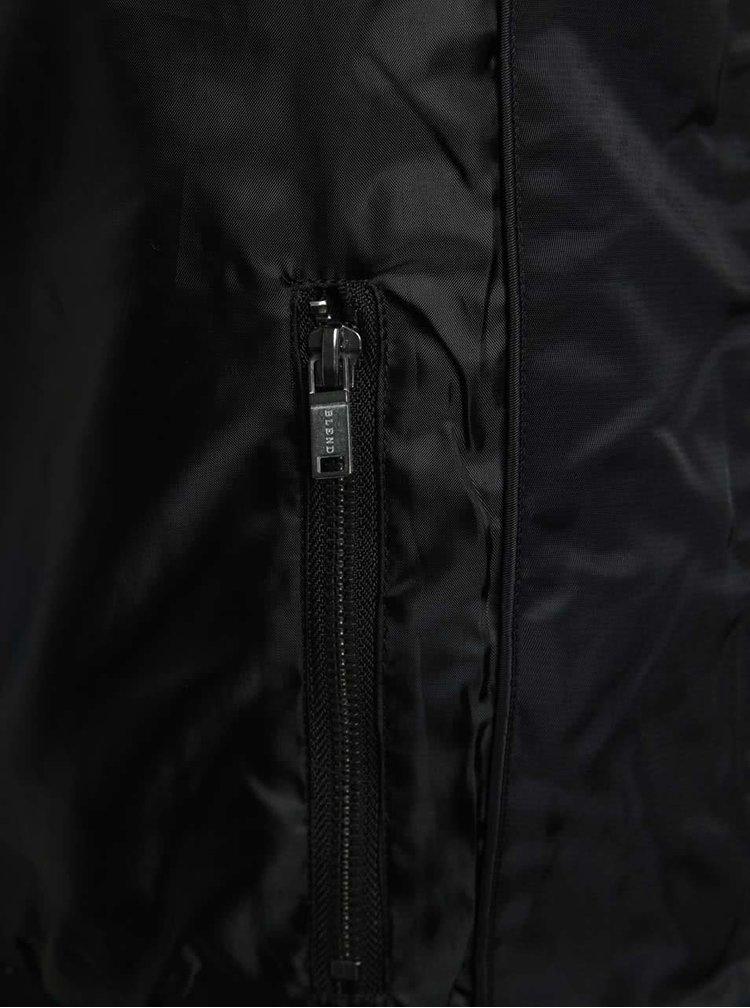 Černý bomber s kapsami Blend