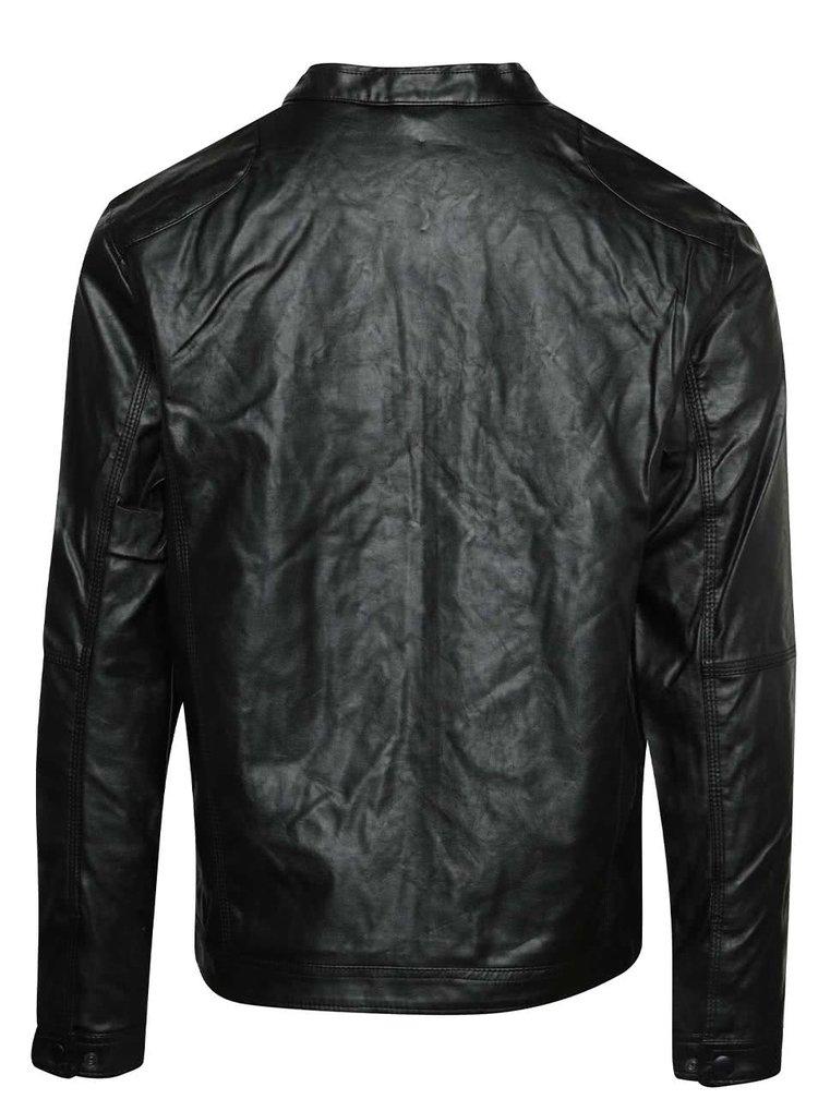 Jacheta neagra Blend din piele ecologica