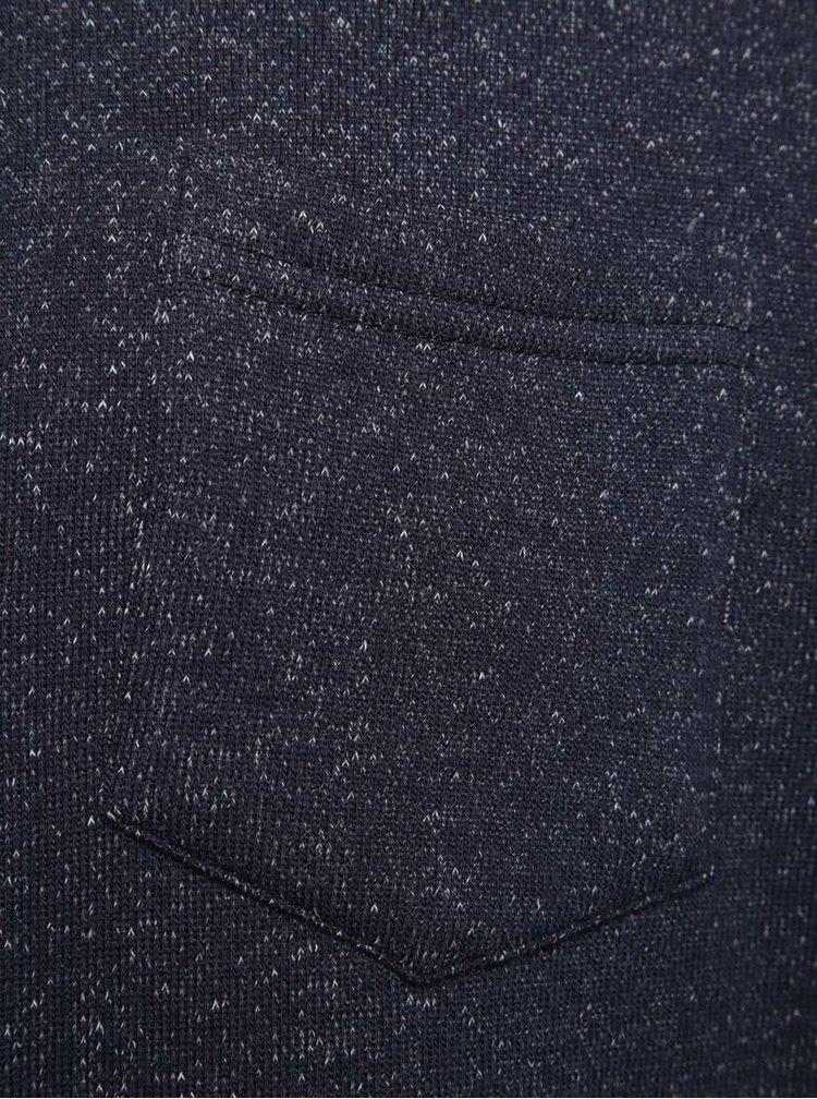 Pulover albastru melanj Blend cu buzunar