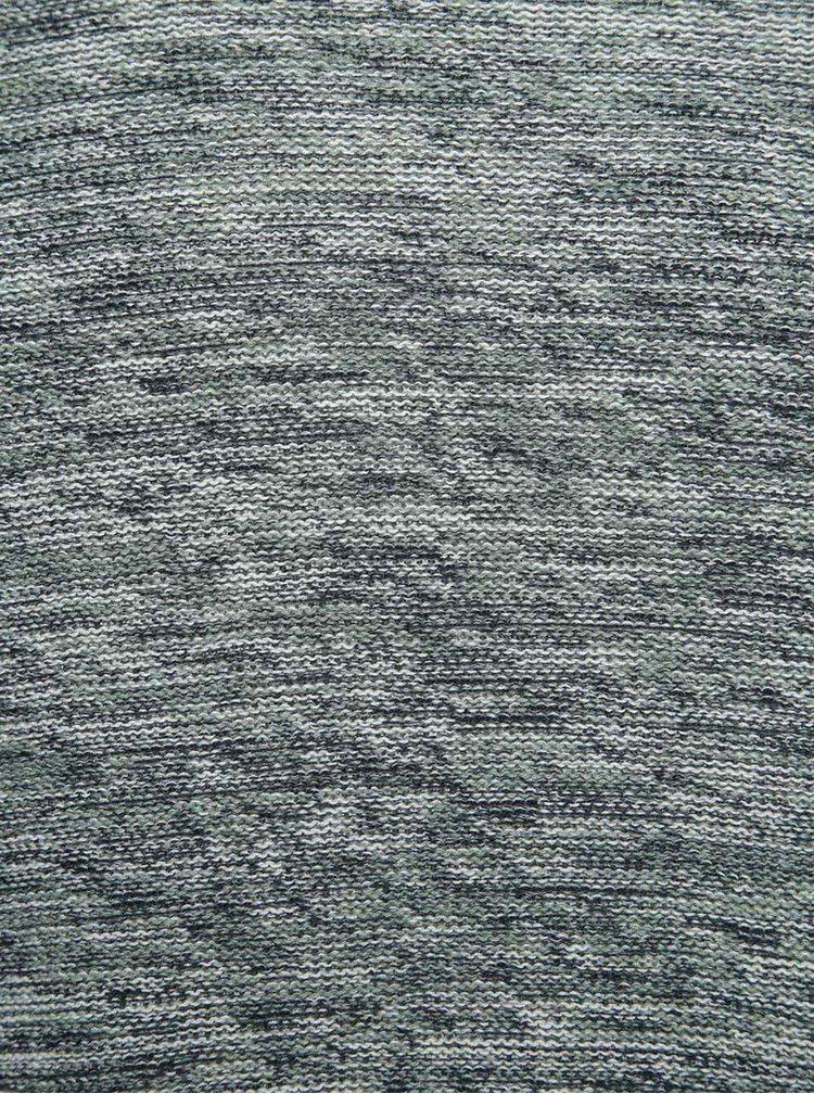 Krémovo-zelený žíhaný lehký svetr Blend
