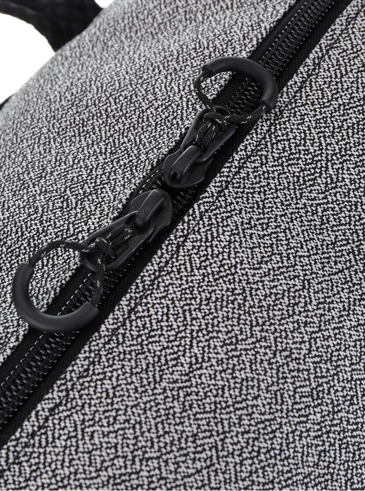 Šedá žíhaná unisex taška pinqponq Karavan 26 l