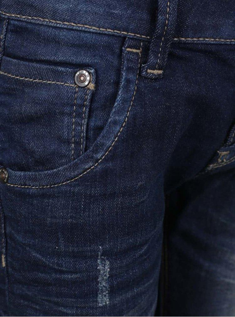 Tmavě modré klučičí džíny s potrhaným efektem name it Timmi