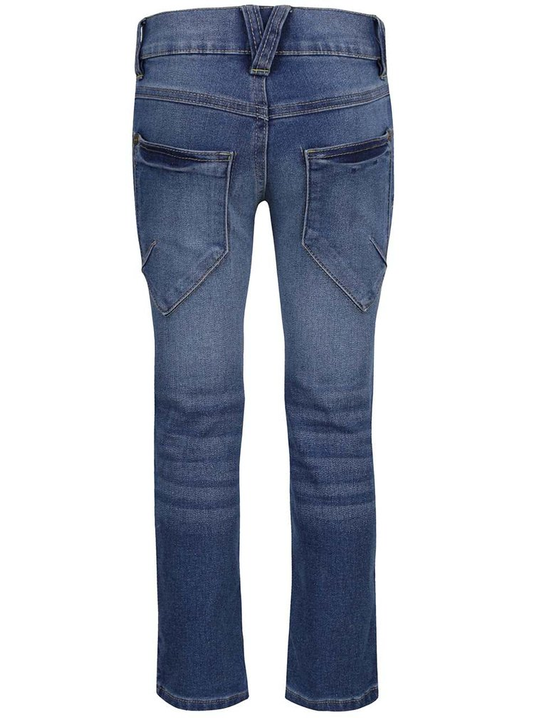 Modré klučičí džíny s vyšisovaným efektem name it Alexi