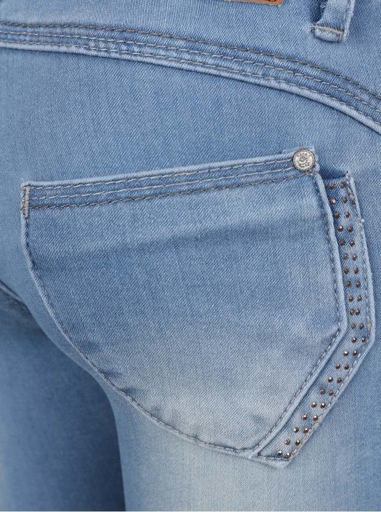 Světle modré holčičí skinny džíny s vyšisovaným efektem name it Sus