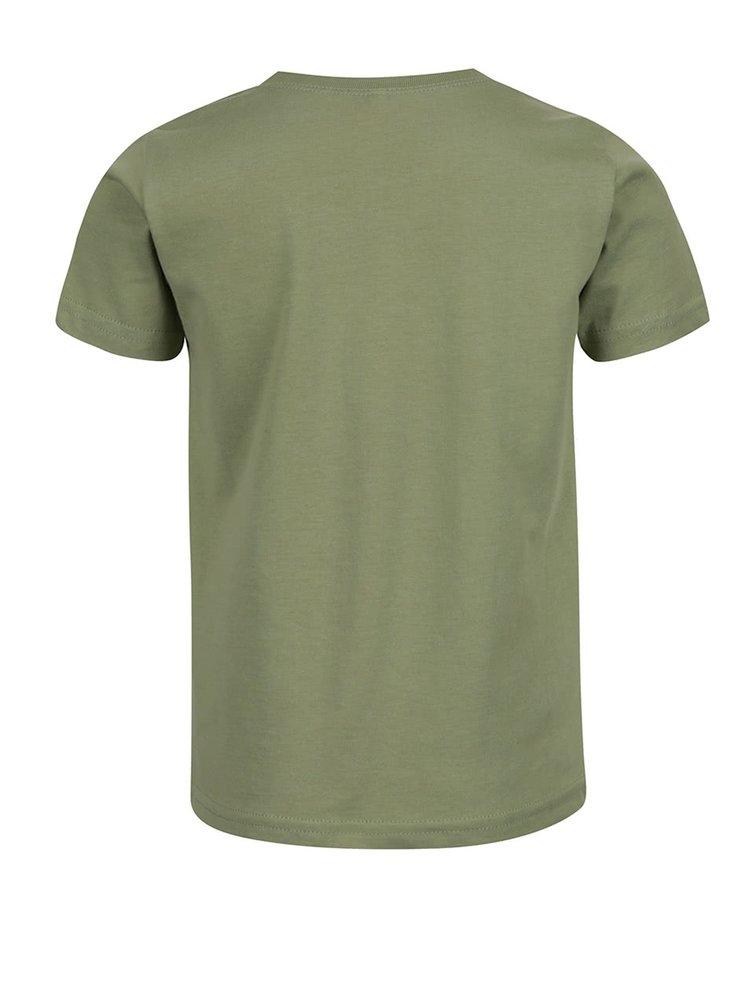 Světle zelené klučičí triko s potiskem name it Victor Dolf