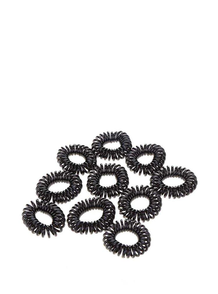 Set elastice de păr Pieces Spiral negre