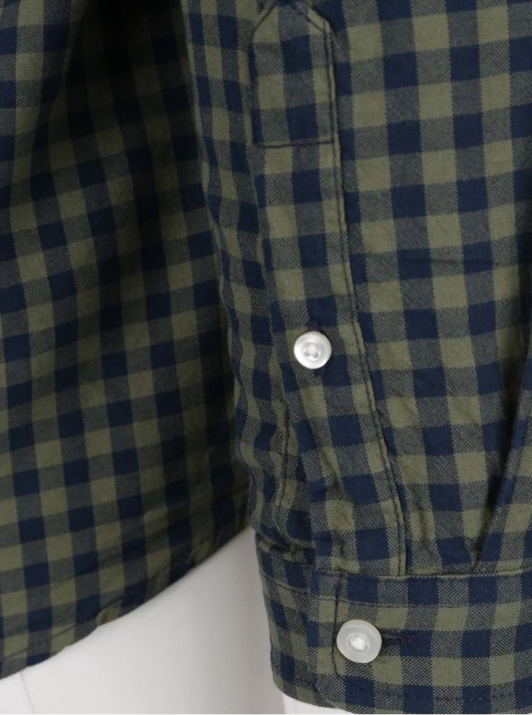 Camasa verde & albastru ONLY & SONS Ragner din bumbac cu model in carouri