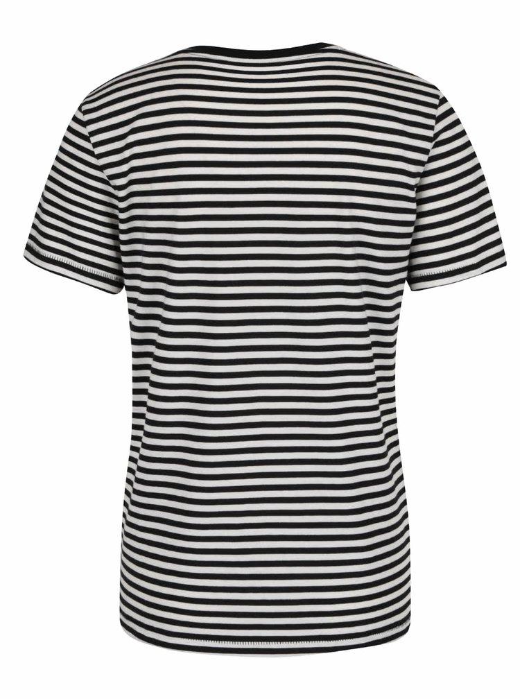 Černo-krémové pruhované tričko Selected Femme My Perfect