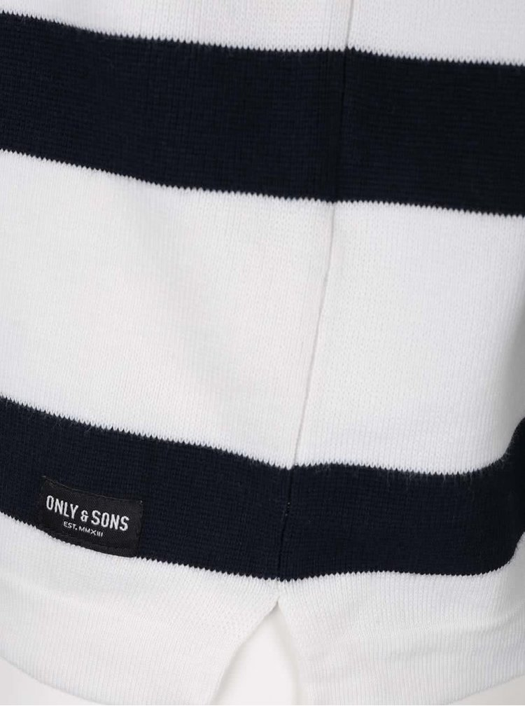 Modro-krémový pruhovaný svetr ONLY & SONS Jamie