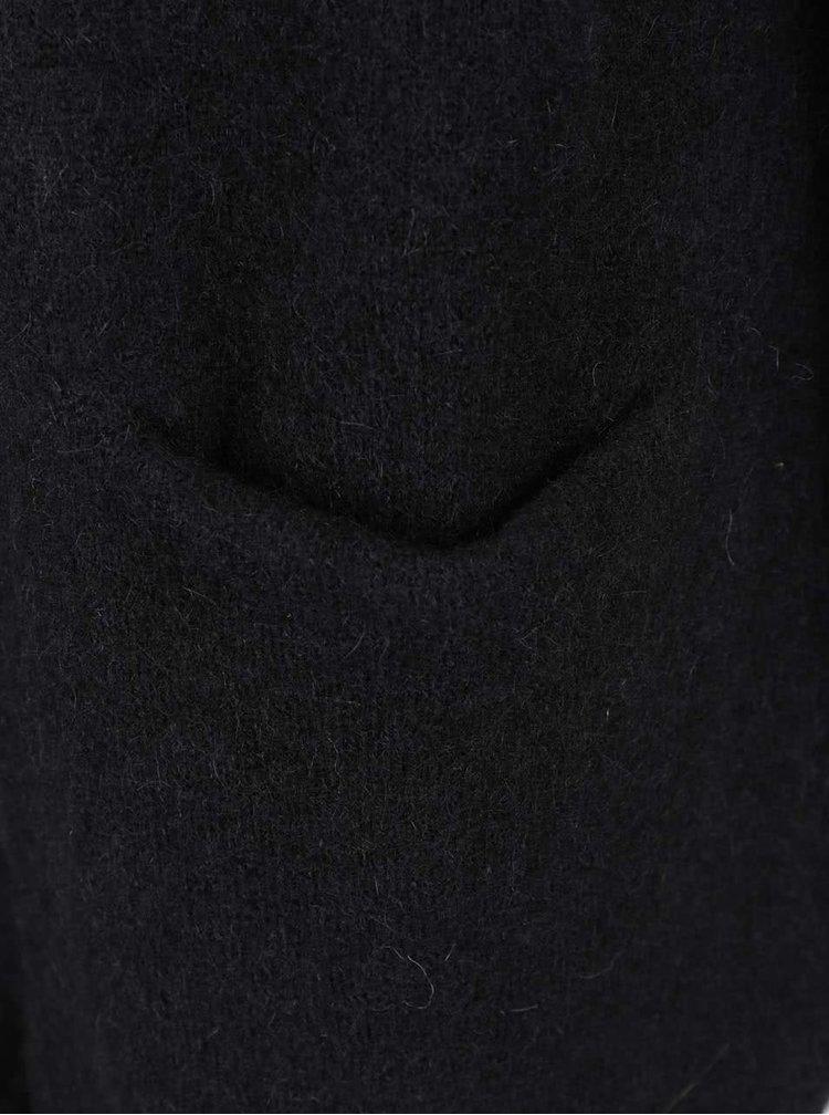 Černý vlněný kardigan s kapsami Selected Femme Livana