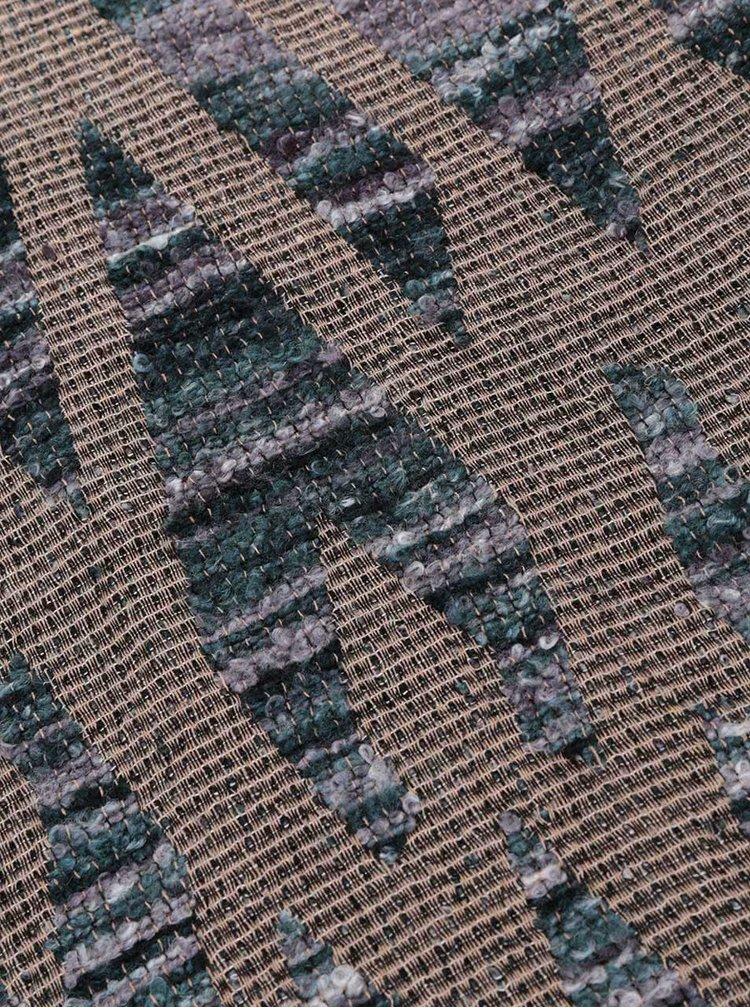 Eșarfă maro Pieces Lea cu model geometric