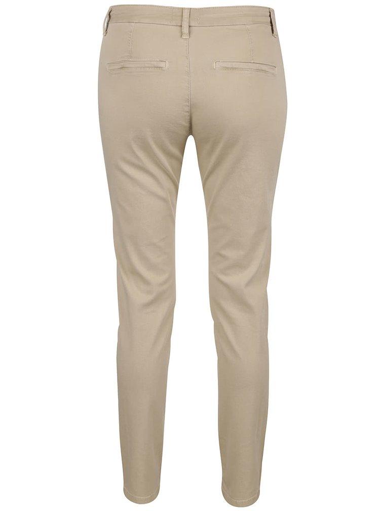 Pantaloni chino bej Selected Femme Ingrid