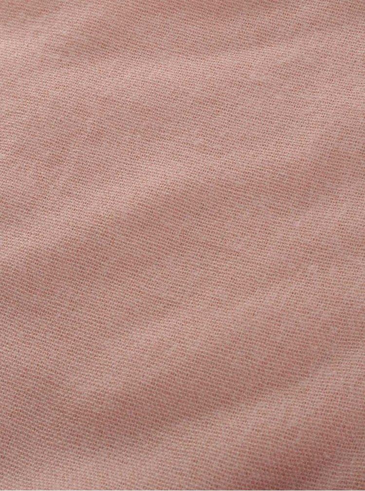 Růžová čtvercová šála Pieces Leeann