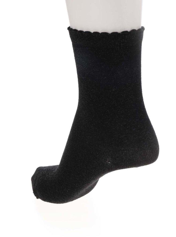 Černé třpytivé ponožky Pieces Sebby