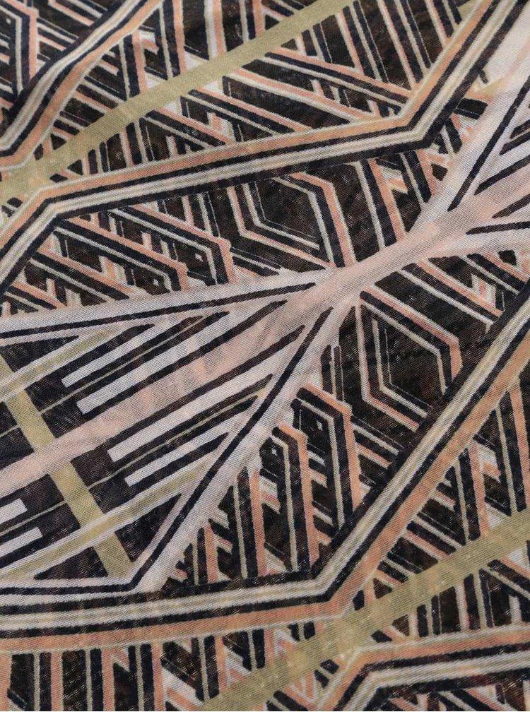Eșarfă circulară crem Pieces Lilla