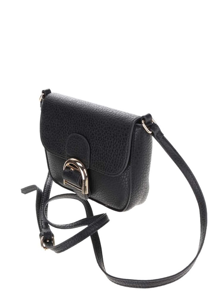 Černá malá crossbody kabelka Pieces Luna
